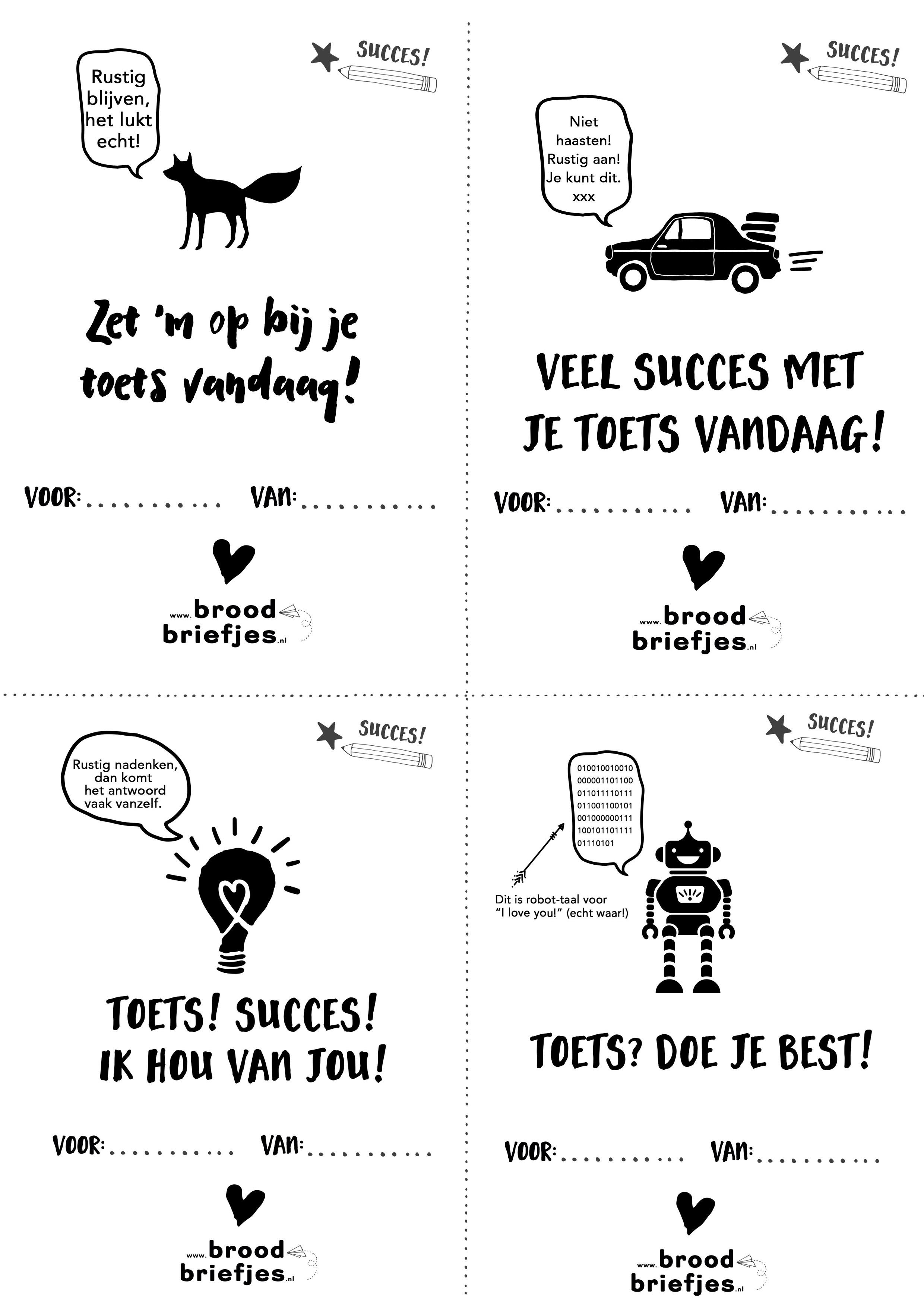 Kleurplaat Nieuw Schooljaar Extra Succes Met Je Toets Broodbriefjes Nl