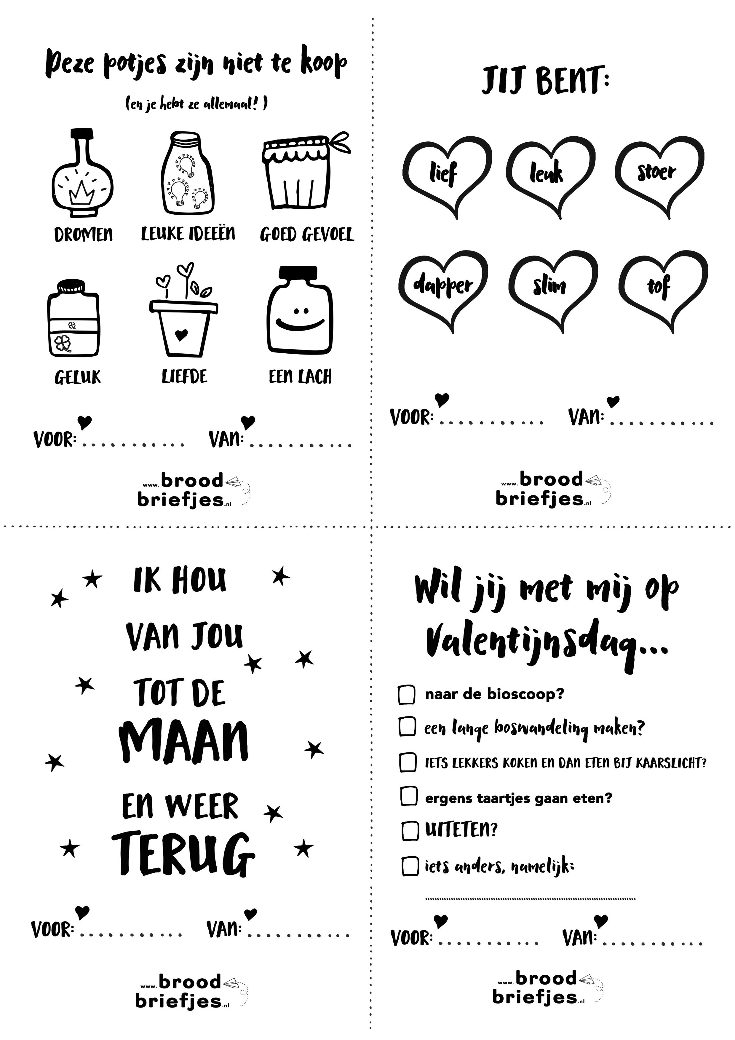 Zelf Kleurplaat Maken Op De Computer Lieve Broodbriefjes Voor Valentijnsdag Of Zomaar